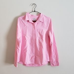Madewell Pink Shrunken Oxford Shirt